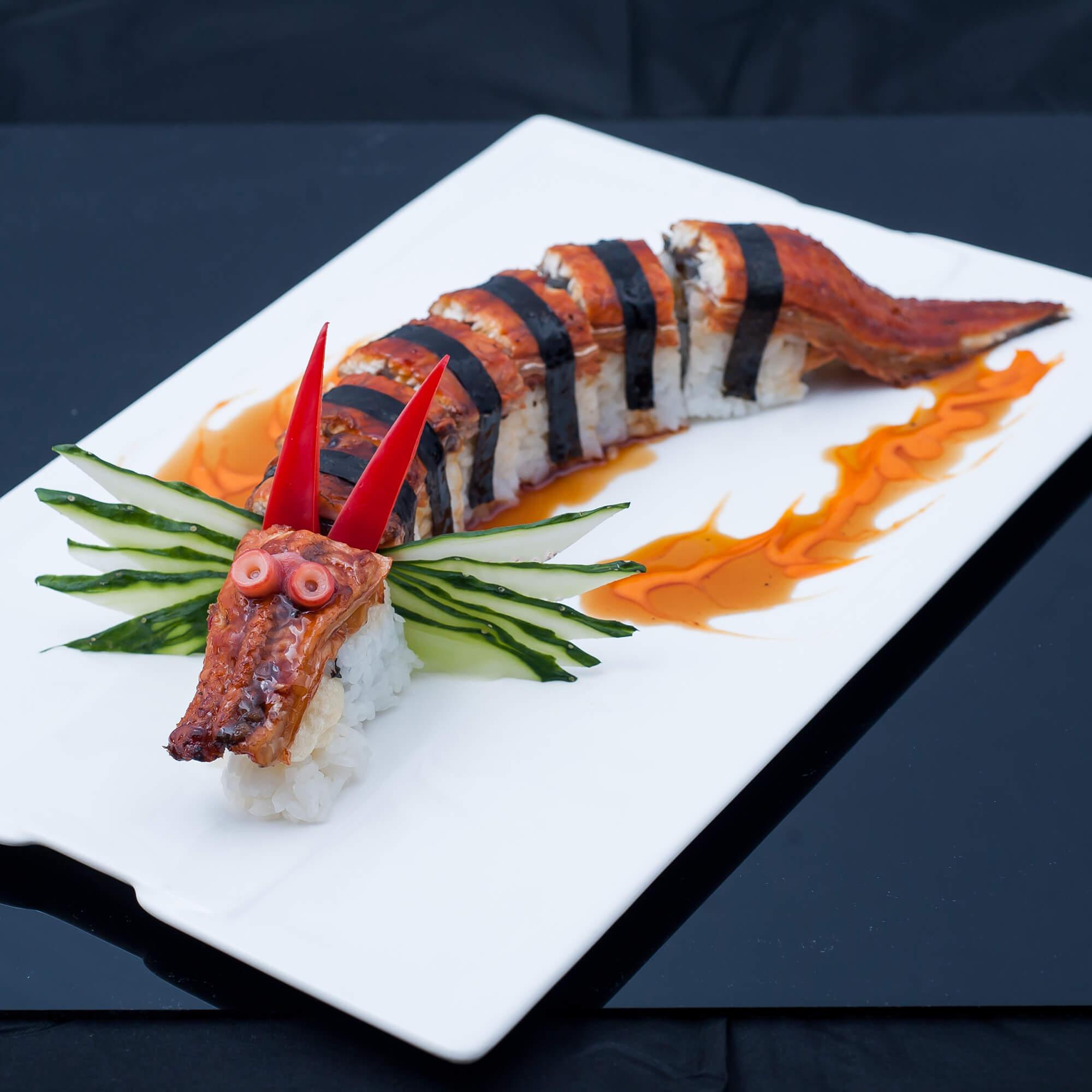 変り種の寿司ロール、ドラゴンロール